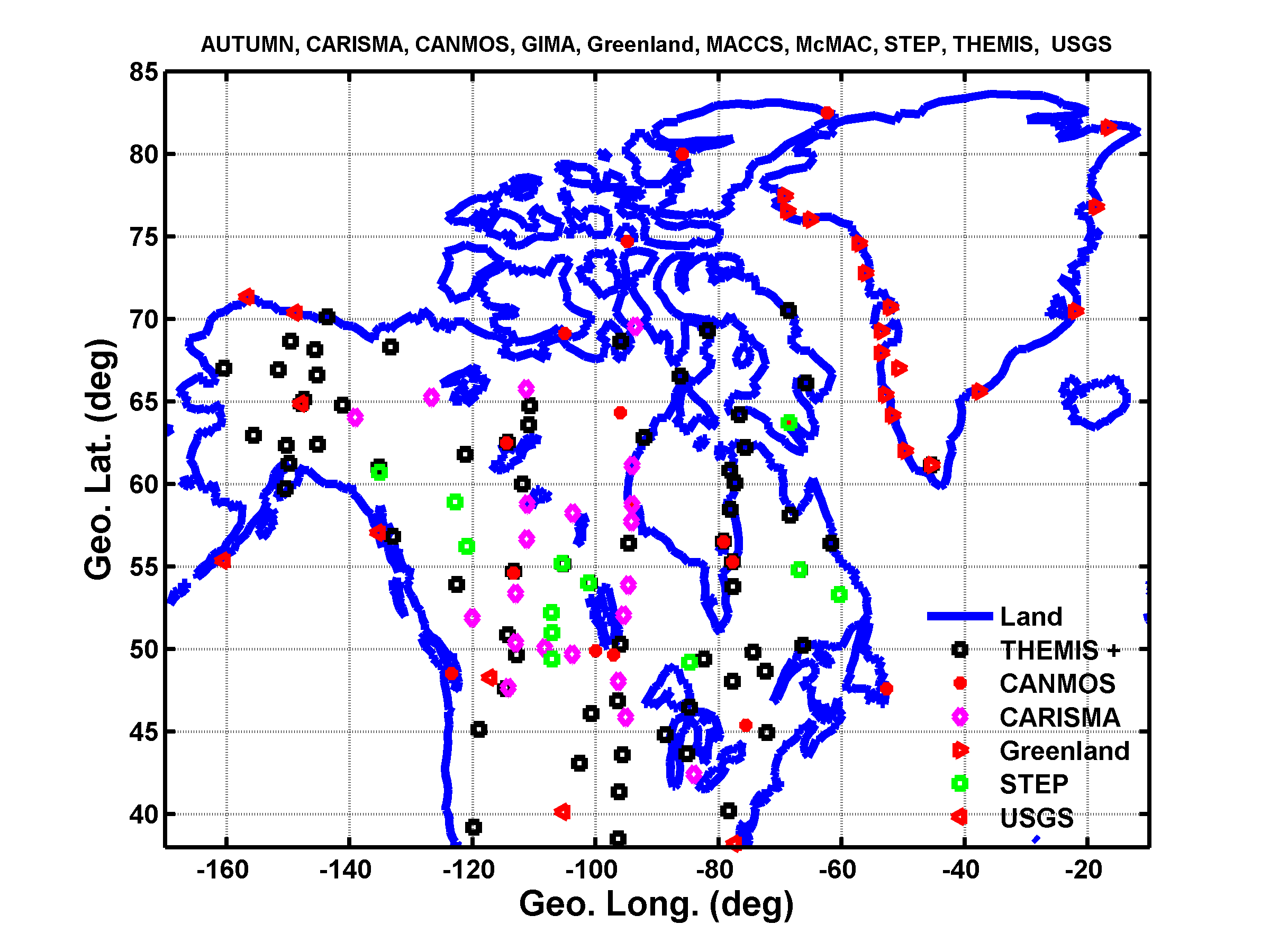 Equivalent Ionospheric Currents Over North America And Greenland - Greenland latitude